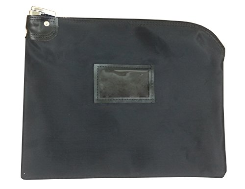 Locking Document Hipaa Bag 15 X 19   Medical File Security   Legal Size Records Courier Bag  Black