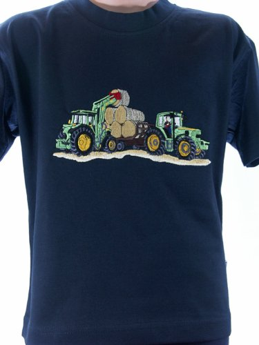 Zintgraf T-Shirt OEKO-TEX® Stickerei Frontlader Duo V62 (116, Blau)