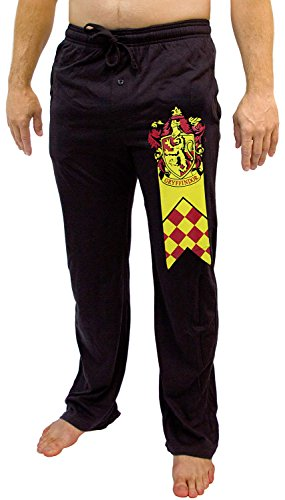 Harry Potter Men's Gryffindor House Banner And Crest Lounge Sleep Pajama Pants (LG) (Potter Pants Harry)