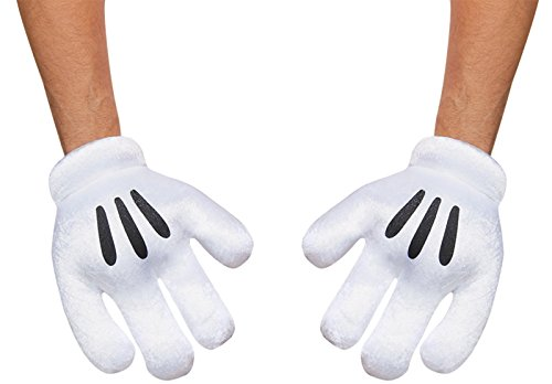 Disguise Costumes Mickey Mouse Gloves, Adult -