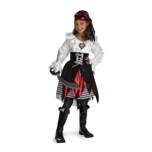 [Pirate Lass Costume - Medium (7-8)] (Pirates Kids Costumes)