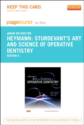Sturdevant's Art and Science of Operative Dentistry - Elsevier eBook on Intel Education Study (Retail Access Card), 6e