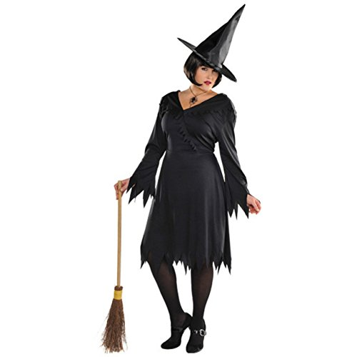 Amscan 840393 Adult Classic Witch Costume Plus Size, Black
