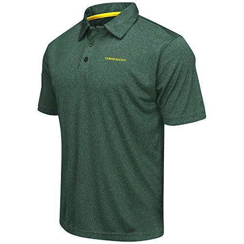Heathered Trend-Setter Golf/Polo Shirt-Oregon Ducks-Heathered Green-Large ()