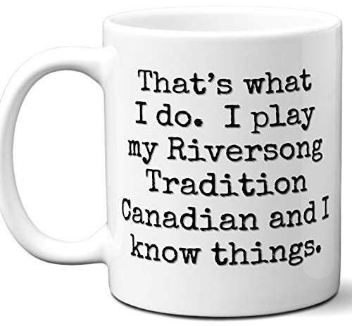 Guitar Gifts Mug. Riversong Guitars Tradition Canadian Guitar Players Lover Accessories Music Teacher Lover Him Her Funny Dad Men Women Card Pick Musician Acoustic Unique