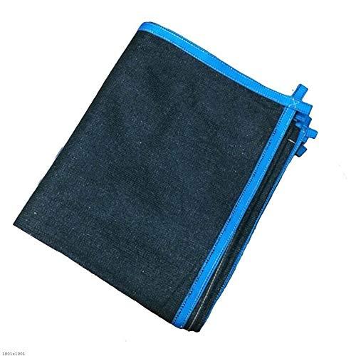 に付ける判決コールドLIXIONG オーニングシェード遮光ネット シェーディング通気性のある折り畳み式多目的フラワープロテクションネットメタルホール付ポリエチレン、22サイズ (色 : Black+blue, サイズ さいず : 5x5m)