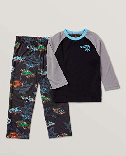 Volcom Kids Baby Boy's Hot Wheels(r) Large Collector PJ Pants Set (Toddler/Little Kids) Black Large