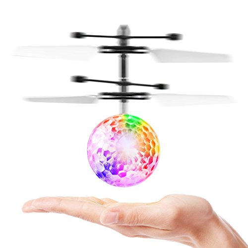 Cj Kid And Boy Toys  Rc Flying Ball  Infrared Induction Helicopter Ball With Rainbow Shinning Led Lights And Remote Control For Kids  Flying Toy For Boys And Girls  Transparent