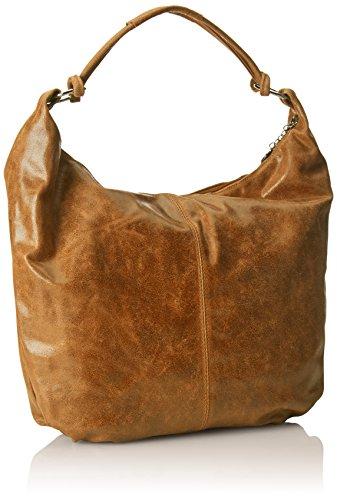 bolso in 100 genuino Made CTM Bolsa 45x35x4cm de cuero cuero Naranja Mujeres hombro Cuoio de Italy x7vPznr7Iq