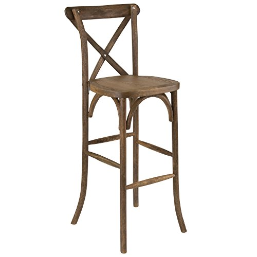 Flash Furniture XA-X-BAR-GO-GG Antique Cross Back Barstool Wood