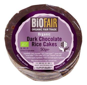 - Biofair Organic Dark Chocolate Rice Cakes 50g