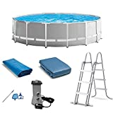 Intex 15ft x 48in Prism Swimming Pool Set w/ Ladder, Cover and Maintenance Kit
