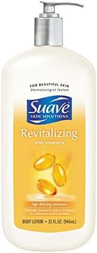 Suave Skin Solutions Body Lotion, Revitalizing with Vitamin E 32 oz
