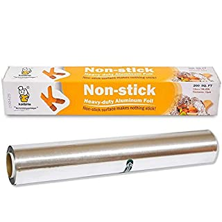 Katbite 200 Square Foot Non-Stick Aluminum Foil Roll, Grilling Foil Wrap for Baking Roasting, BBQ, Baking Accessories(12 in x 196ft)
