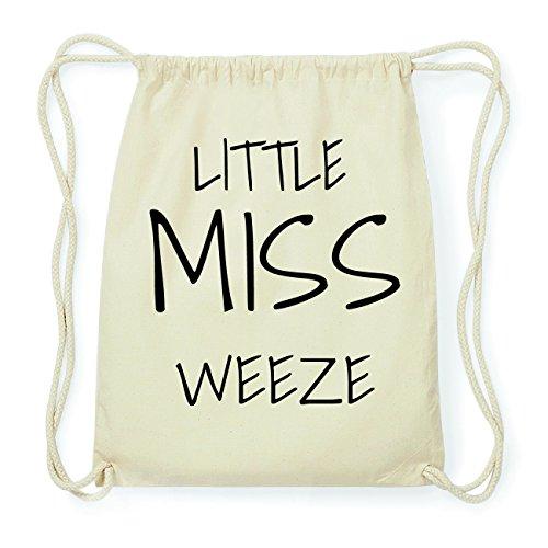 JOllify WEEZE Hipster Turnbeutel Tasche Rucksack aus Baumwolle - Farbe: natur Design: Little Miss