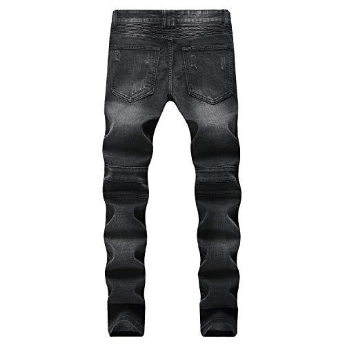 de Pantalones Tendencias Vaqueros Las de los elásticos Pantalones los de Hombres Slim Vaqueros los Vaqueros Fit Hombres Ajustados Negro Pantalones Ajustados Negro Hombres de vaaO6YWwqz
