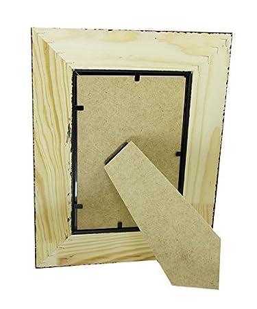 Portafotos de madera CMGdecor decorados a mano en PLATA y ORO MODELO 409-20 (10 X 15 Cm): Amazon.es: Hogar