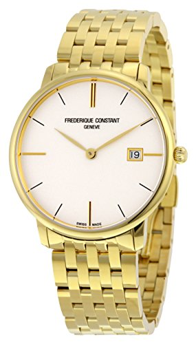 Frederique Constant Slimline Silver Dial Yellow Gold-plated Mens Watch FC-220V5S5B