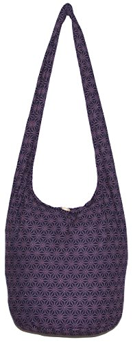 Bohemian Hippie Shoulder Hobo Boho Cross Body Bag Purse Diamond (DarkBlue)