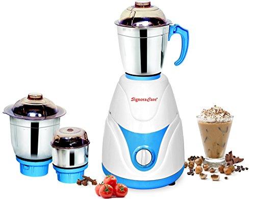 Signora Care Eco Plus 500-Watt Mixer Grinder with 3 Jars (White)
