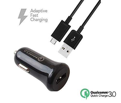 - Quick Fast Charger Set for LG Harmony Devices - [Car Charger + 5 FT Micro USB Cable] - AFC uses Dual voltages for up to 50% Faster Charging! - Black