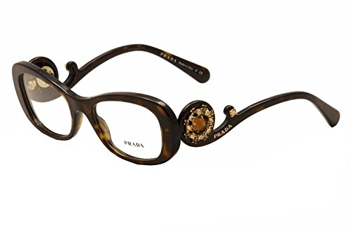 "havana prada limited edition rhinestone eyeglasses pr10qv ""ornate collection"""