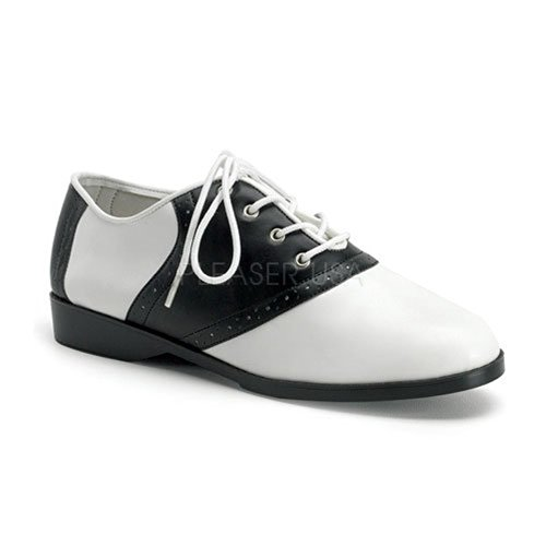 Pu Oxford 50 Donna White Scarpe Saddle Black Pleaser q078Ox0