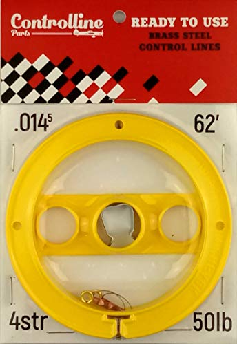 Line Kit for Control Line Planes (Yellow, 0.014x2x62