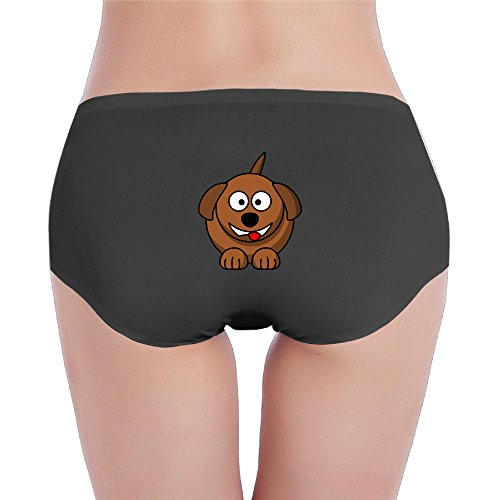 Lasong Brown Dog Women's Low-waisted Panties XL (Brown Ricky Wig)