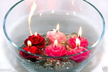 Sanlax Paraffin Wax Floating Candle - (3X3.5 cm)(Pack of 2) Candles at amazon