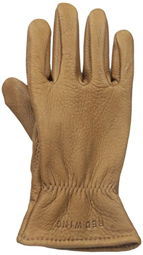 Red Wing Heritage Lined Leather Gloves, Nutmeg Buckskin,Small