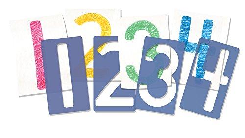 Roylco Big Number Stencils, 5 x 9 Inches, Set of 10