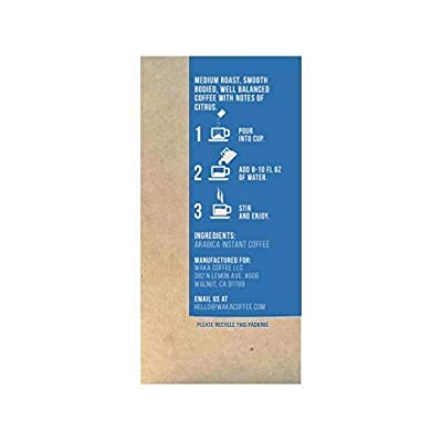 Waka Coffee Quality Instant Coffee, Colombian, Medium Roast | 100% Arabica, Freeze Dried, 8 Single-Serve Packets | Add Water, Give Water