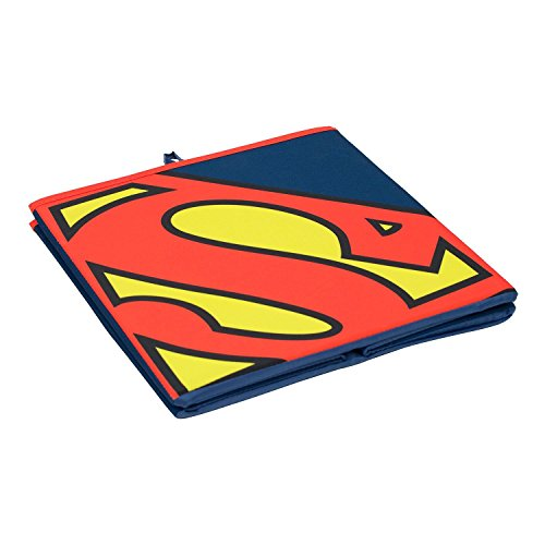 Everything Mary Superman Collapsible Storage Bin by DC Comics - Cube Organizer for Closet, Kids Bedroom Box, Playroom Chest - Foldable Home Decor Basket Container with Strong Handles and Design by Everything Mary (Image #2)