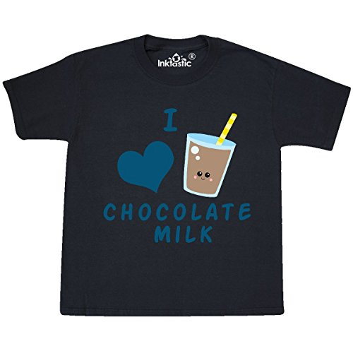 inktastic - I Love Chocolate Milk Youth T-Shirt Youth Small (6-8) Black 27c27 ()