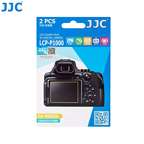 Jjc LCP-P1000 LCD Guard Film Screen Protector (2 Kits) for Nikon COOLPIX P1000, LCD Cover, Nikon P1000 Screen Protector - Lcd Screen Guard Film