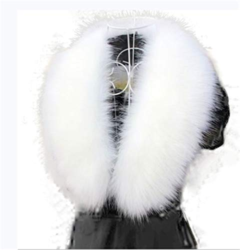 Shawl Neck (Faux Fur Collar Scarf Hood Collar Shawl Stole Neck Warmer For Winter Coat Jacket Parka (90cm/35.4