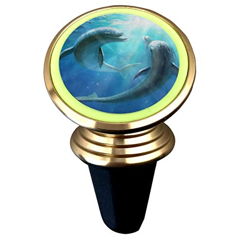 (Magnetic Car Holder Rotation Universal Ocean Sea Love Dolphin Custom Adjustable 360˚ Rotation Universal Car Mount Cell Phone Stand for Galaxy S9/S9)