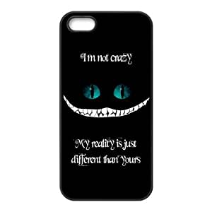 Cute Quote I'm not crazy my reality is just different than yours Hard Rubber Phone Cover Case for iPhone 5,5S Cases