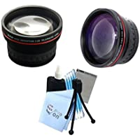 Vivitar Series 1 RedLine Bundle HD 2.2X Telephoto Lens & HD 0.43X Wide Angle Lens w/ Complete Cleaning Kit for All Kodak 52mm Cameras