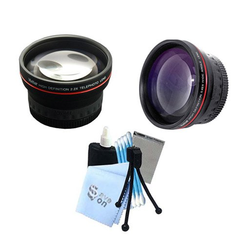 Vivitar Series 1 ''RedLine'' Bundle HD 2.2X Telephoto Lens & HD 0.43X Wide Angle Lens w/ Complete Cleaning Kit for Kodak Z7590 DX6490 DX7590 Cameras