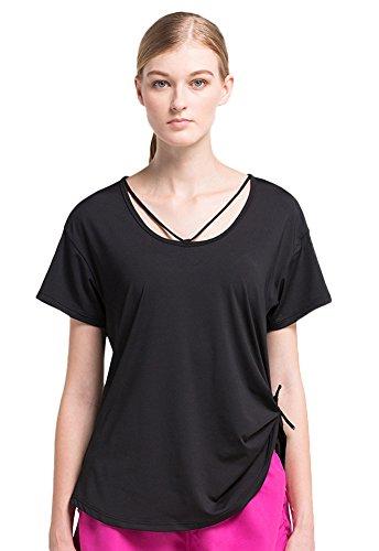 Insun - Camisa deportiva - para mujer negro