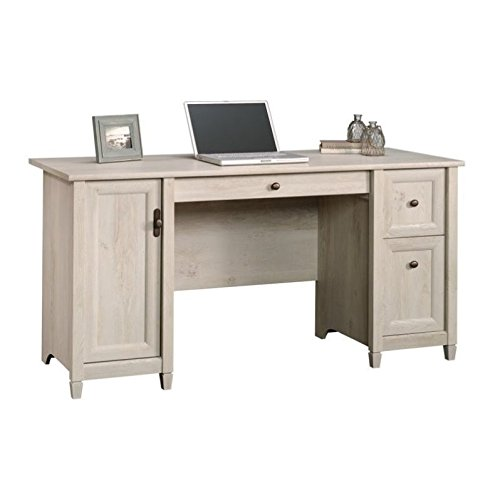 Sauder Edge Water Computer Desk, Chalked Chestnut finish (Home For Tall Desks Computer)