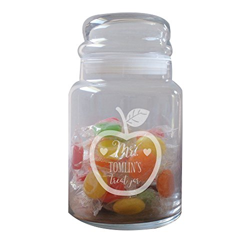 GiftsForYouNow Apple Personalized Glass Candy ()