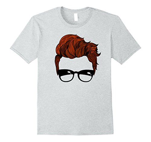 Mens Retro Hairstyle with Sunglasses Vintage T-Shirt Small Heather - Mens Hairstyles Glasses