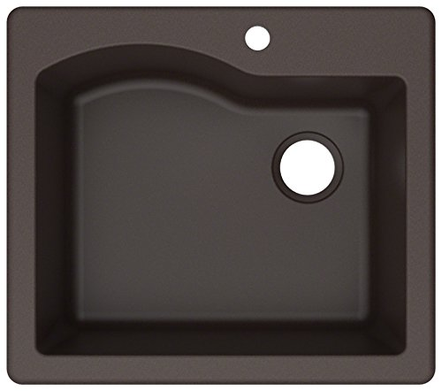 Kraus KGD-441BROWN Quarza Granite Kitchen Sink, 25-inch, Brown (Best Sink For Kitchen Remodel)