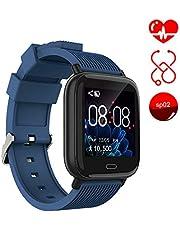 Smart Watch Ayete Fitness Tracker mit Herzfrequenz-/Blutdrucküberwachung Fitness Uhr smart Sportuhr Wasserfest gemäß IP67 Armbanduhr Kamerafernbedienung Damen Smart-Armband für Android iOS