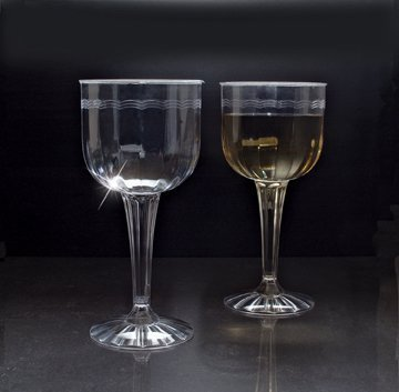 EMI YOSHI 1 pc. Fluted 8 oz. Wine Goblet, Clear, 96 per case