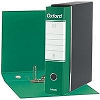 Esselte 390783180, Raccoglitore Oxford, Formato Commerciale, Cartone, Dorso 8 cm per Raccoglitore, Confezione da 6pz, Verde