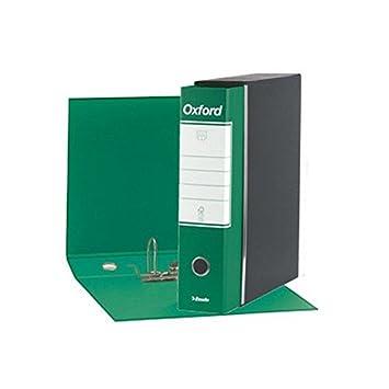 Esselte 390783180, archivador Oxford, formato comercial, cartón, lomo 8 cm para archivador, Unidades de 6pz, verde: Amazon.es: Oficina y papelería